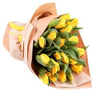 23 yellow tulips - flowers and bouquets on df.ua