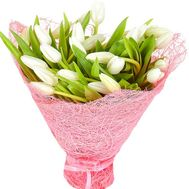 White tulips in a bouquet - flowers and bouquets on df.ua