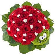 Божья коровка из цветов - цветы и букеты на df.ua