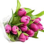Bouquet of 11 pink tulips - flowers and bouquets on df.ua
