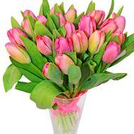 Букет красных тюльпанов с лентой - цветы и букеты на df.ua