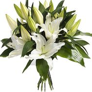 Bouquet of white lilies - flowers and bouquets on df.ua
