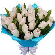 Букет белых тюльпанов - цветы и букеты на df.ua