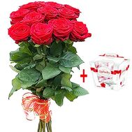 """Bouquet of flowers with sweets"" in the online flower shop df.ua"