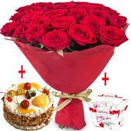 Букет и сладости - цветы и букеты на df.ua
