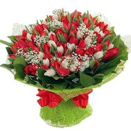 Bouquet of 101 tulips - flowers and bouquets on df.ua