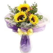 Bouquet of 3 sunflowers - flowers and bouquets on df.ua