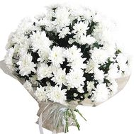 """""""Bouquet of white chrysanthemums"""" in the online flower shop df.ua"""