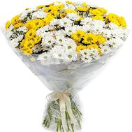 Bouquet of white and yellow chrysanthemums - flowers and bouquets on df.ua