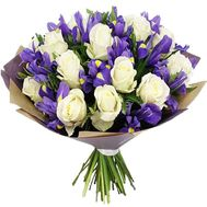 Bouquet of irises and roses - flowers and bouquets on df.ua