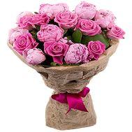 Букет из пионов и роз - цветы и букеты на df.ua