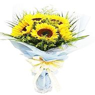 Bouquet of sunflowers - flowers and bouquets on df.ua
