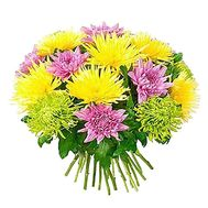 Bouquet of different color chrysanthemums - flowers and bouquets on df.ua