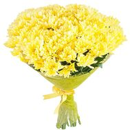 Bouquet of yellow chrysanthemums - flowers and bouquets on df.ua