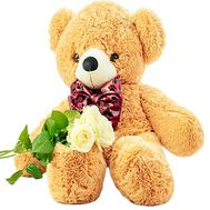 Bunch of teddy bear with flowers - flowers and bouquets on df.ua