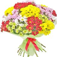 Bouquet of multicolored chrysanthemums - flowers and bouquets on df.ua
