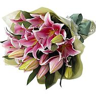 Bouquet of pink lilies - flowers and bouquets on df.ua