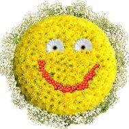 Букет смайлик - цветы и букеты на df.ua