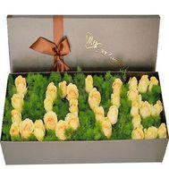 Квіткова напис - ЛЮБЛЮ - цветы и букеты на df.ua