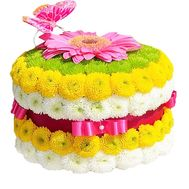 Flower cake for a girl - flowers and bouquets on df.ua