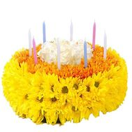 Flower cake from fresh flowers - flowers and bouquets on df.ua