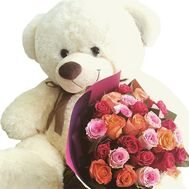 Flowers and stuffed toys - flowers and bouquets on df.ua
