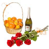 Fruits, flowers and champagne - flowers and bouquets on df.ua