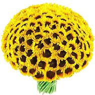 A huge bouquet of 75 sunflowers - flowers and bouquets on df.ua