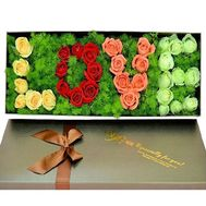 """Composition from flowers - inscription LOVE"" in the online flower shop df.ua"