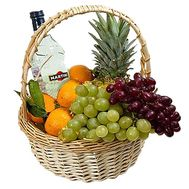 Fruit basket and alcohol - flowers and bouquets on df.ua