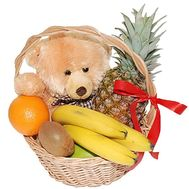 Fruit basket and teddy bear - flowers and bouquets on df.ua