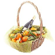 Fruit basket with wine - flowers and bouquets on df.ua
