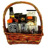 Basket the man with whiskey Jack Daniel`s - flowers and bouquets on df.ua
