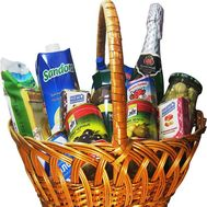 Basket of useful products - flowers and bouquets on df.ua