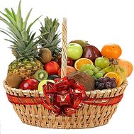 Basket with exotic fruits - flowers and bouquets on df.ua