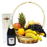 Fruit and champagne basket - flowers and bouquets on df.ua