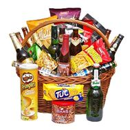 Basket with beer and nuts for men - flowers and bouquets on df.ua