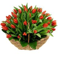 Basket with tulips - flowers and bouquets on df.ua