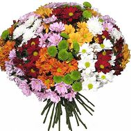 Round bouquet of chrysanthemums - flowers and bouquets on df.ua