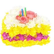 Slice of cake from flowers - flowers and bouquets on df.ua
