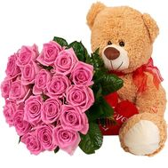 Bear with roses - flowers and bouquets on df.ua