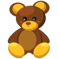 """Teddy bear brown big"" in the online flower shop df.ua"