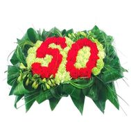 """The inscription of the figure with 50 colors"" in the online flower shop df.ua"