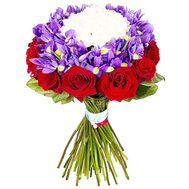 Original bouquet with irises - flowers and bouquets on df.ua