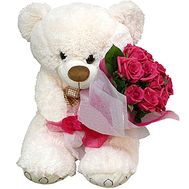 Teddy bear and roses - flowers and bouquets on df.ua