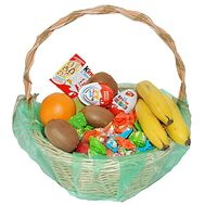 Gift basket with sweets and fruits - flowers and bouquets on df.ua