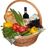 Gift set of products in the basket - flowers and bouquets on df.ua