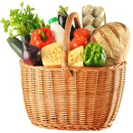 Grocery basket as a gift to buy - flowers and bouquets on df.ua