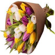 Multicolored tulips - flowers and bouquets on df.ua