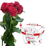 """Roses and sweets"" in the online flower shop df.ua"